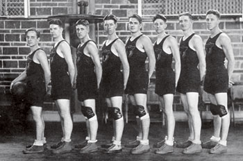 AU's men's basketball squad in the 1920s