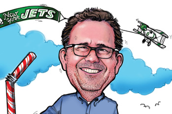 caricature of ESPN public editor Jim Brady