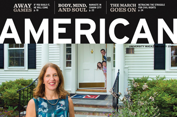 July 2017 cover of American magazine with President Sylvia Burwell