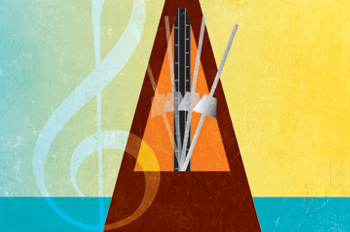 illustration of a metronome