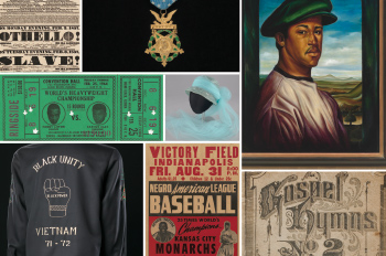 collage of artifacts from the National Museum of African American Culture and History