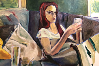 portrait of teenage girl in lockdown by Lori Polson