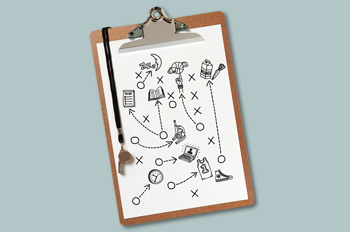 Illustration of a coach's clipboard