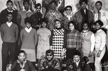 a handful of African American students on AU's campus 1960s