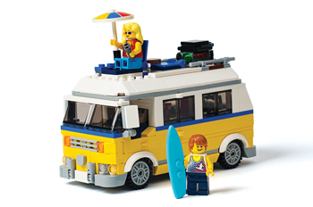 Lego Creator 3-in-1 Sunshine Surfer Van building kit