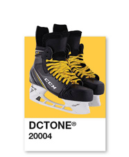 Hockey skates with yellow laces