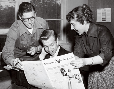 From the archives: three Eagle reporters in the 1950s
