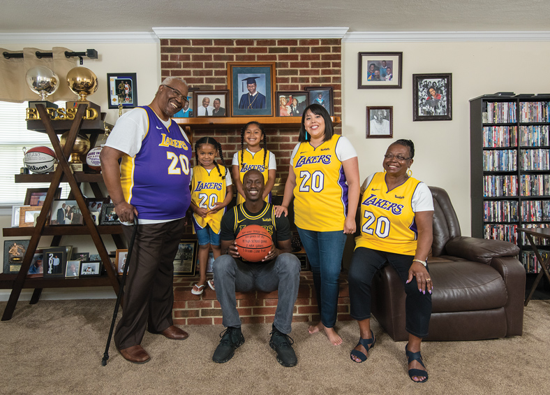 The Ingram family at home in Richmond