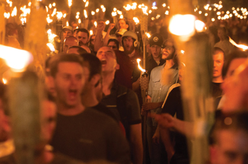 alt-right protestors in Charlottesville, Virginia