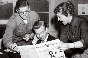 From the archives: three Eagle reporters in the 1950s.