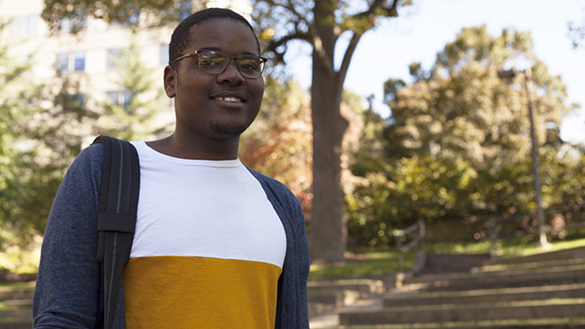American University scholarship recipient hopes to change Africa's narrative.