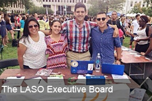 The executive board of LASO, the Latino & American Student Association at American University.