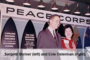 American University's Washington Semester Program inspired Evie Osterman to take a job at the D.C. headquarters of the Peace Corps, which was headed by Kennedy's brother-in-law, Sargent Shriver.