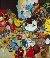 Tracy Miller. Donuts, 1997. Oil on canvas. 84 x 72 in. Courtesy of the artist and Feature Inc., New York, NY