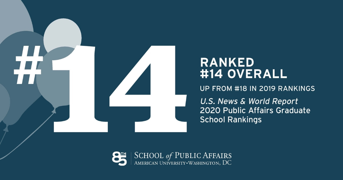 American University Ranking >> School Of Public Affairs At Au Jumps In National Ranking In U S