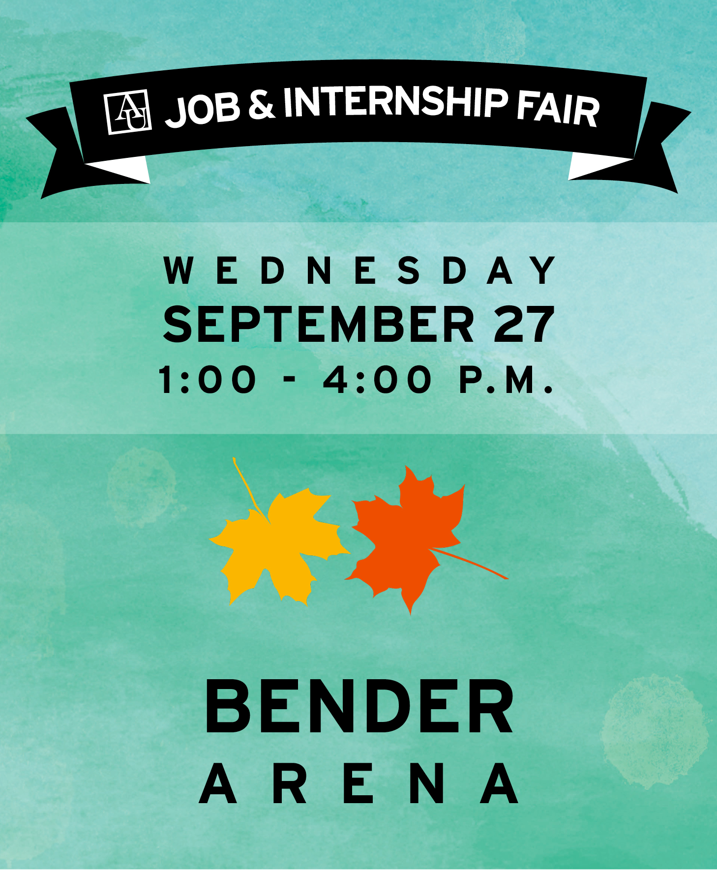Job and Internship Fair from 1-4 p.m. September 27 in Bender Arena