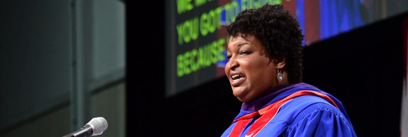 Stacey Abrams at AU Commencement