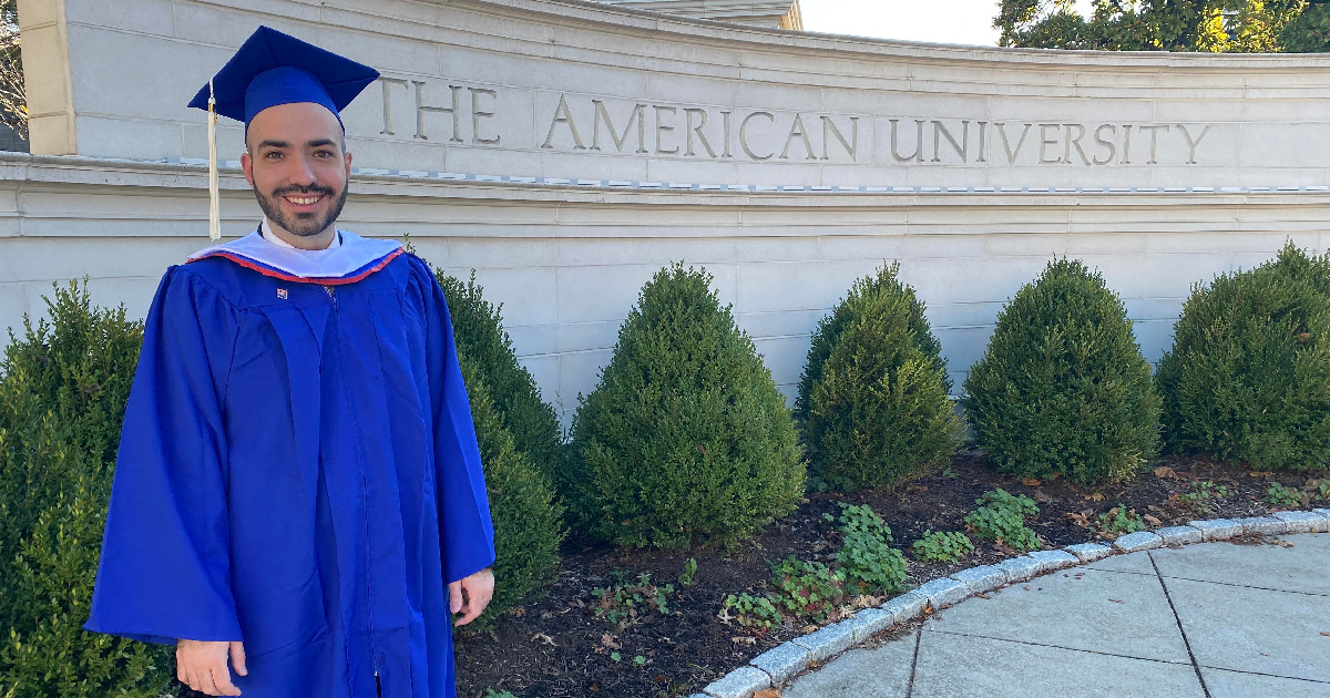 Tony Mendes graduated from AU in December 2020.