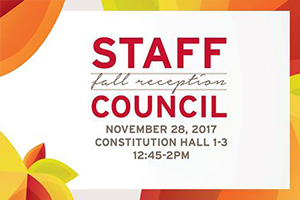 staff council fall reception logo