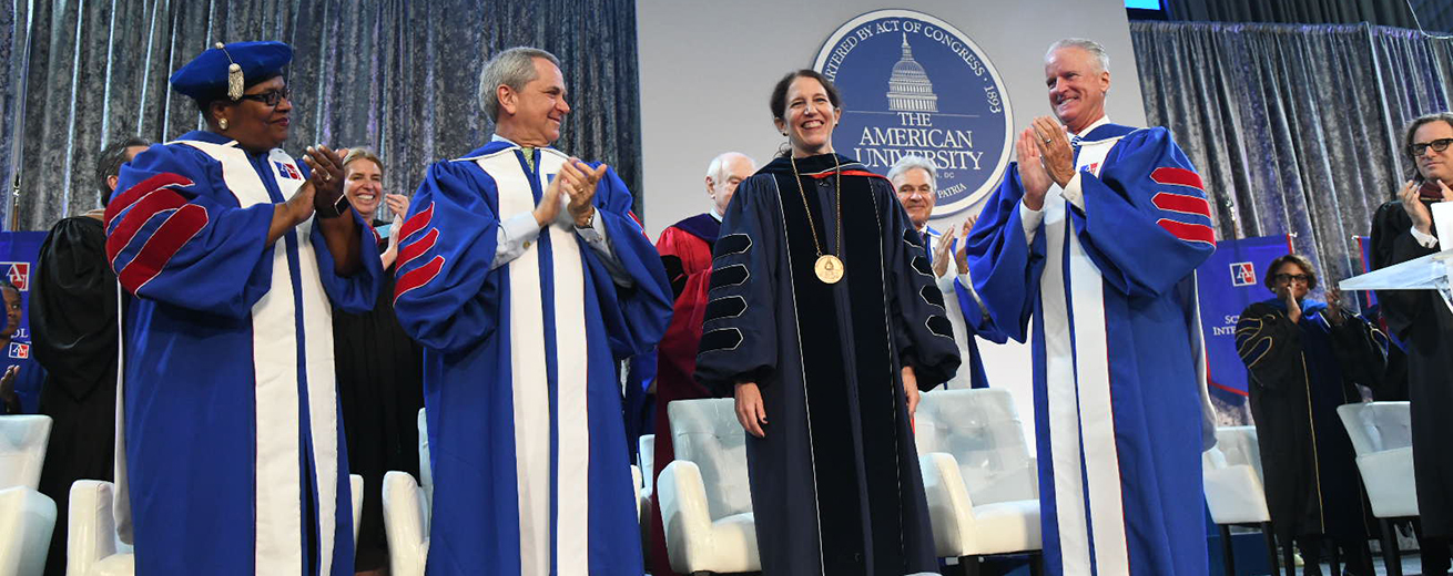 Sylvia Burwell receives applause at inauguration