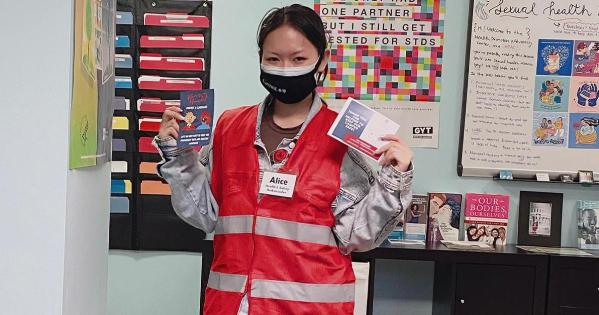 Student Alice Wang is one of AU's Health and Safety Ambassadors.