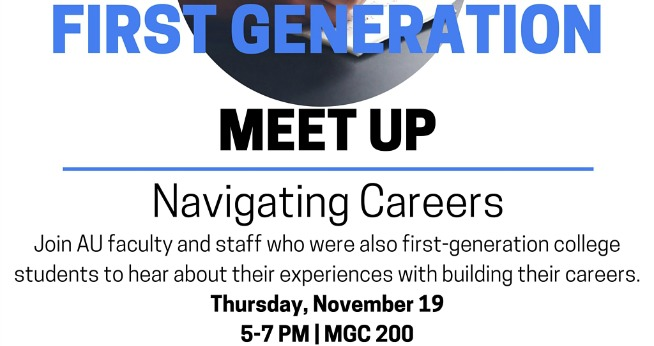 First Generation Meetup Navigating Careers