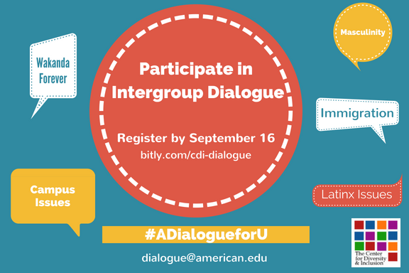 Participate in intergroup Dialogue Register by Sept. 16 bitly.com/cdi-dialogue