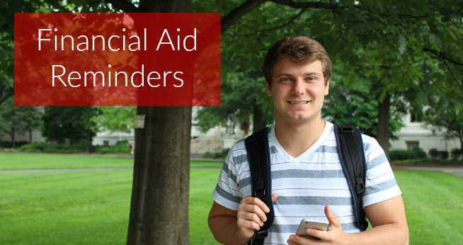 financial aid reminders-step