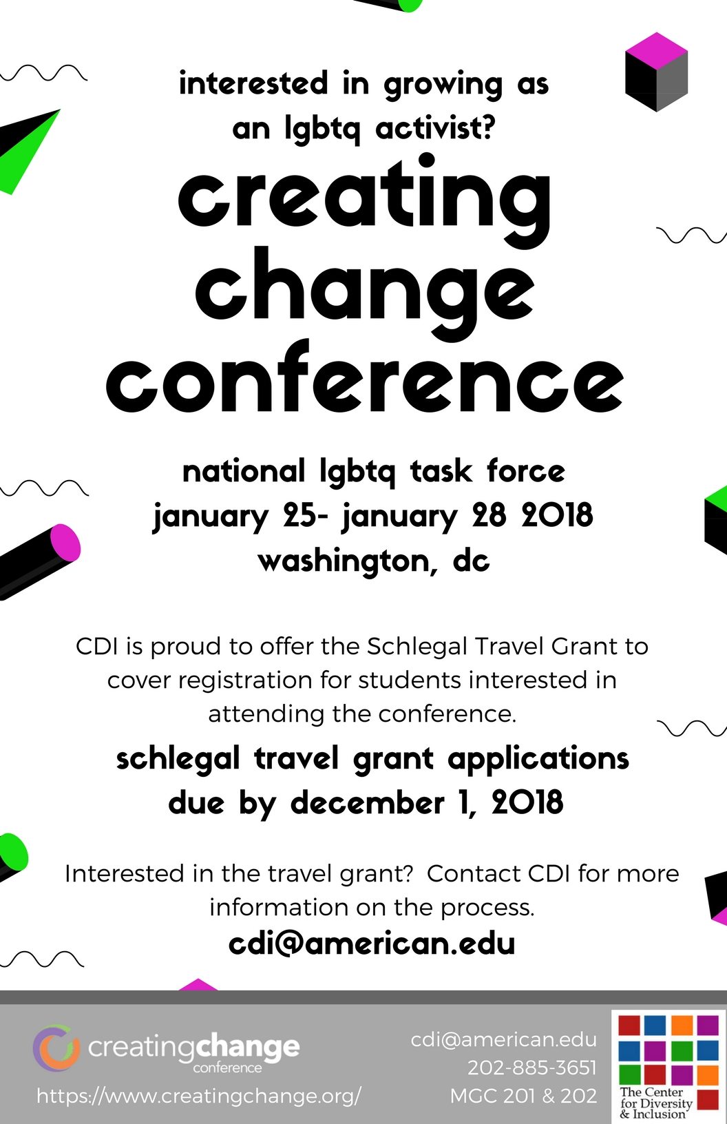 Schlegal Travel Grant Poster
