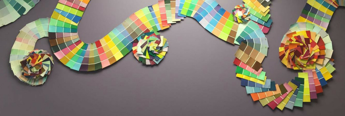 Paint Chip Wall Art from CDI Office