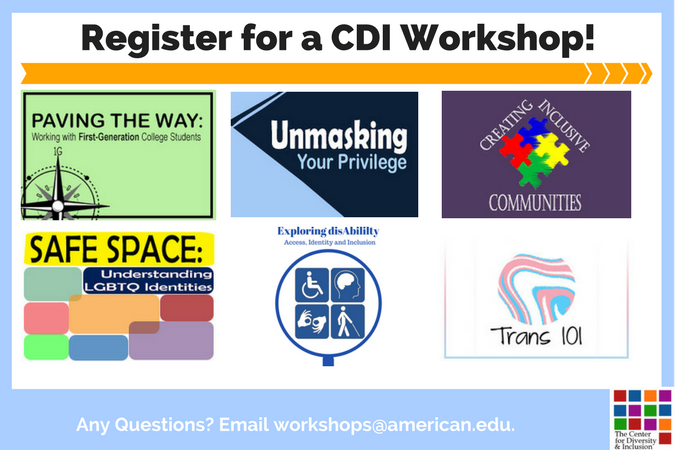 CDI Workshops Summer 2017