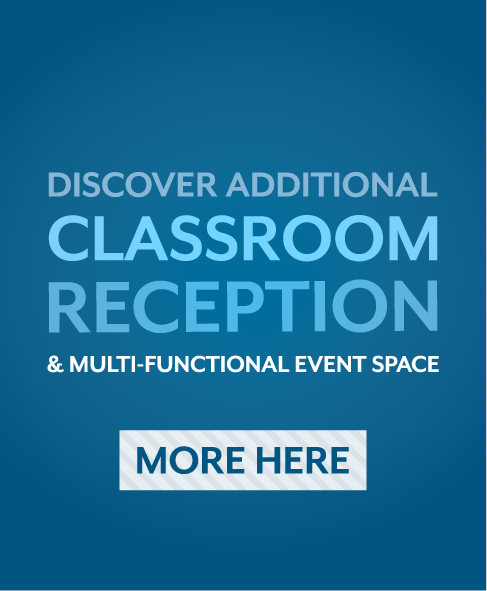 Discover additional classroom, reception, and multi-functional event space. More here.