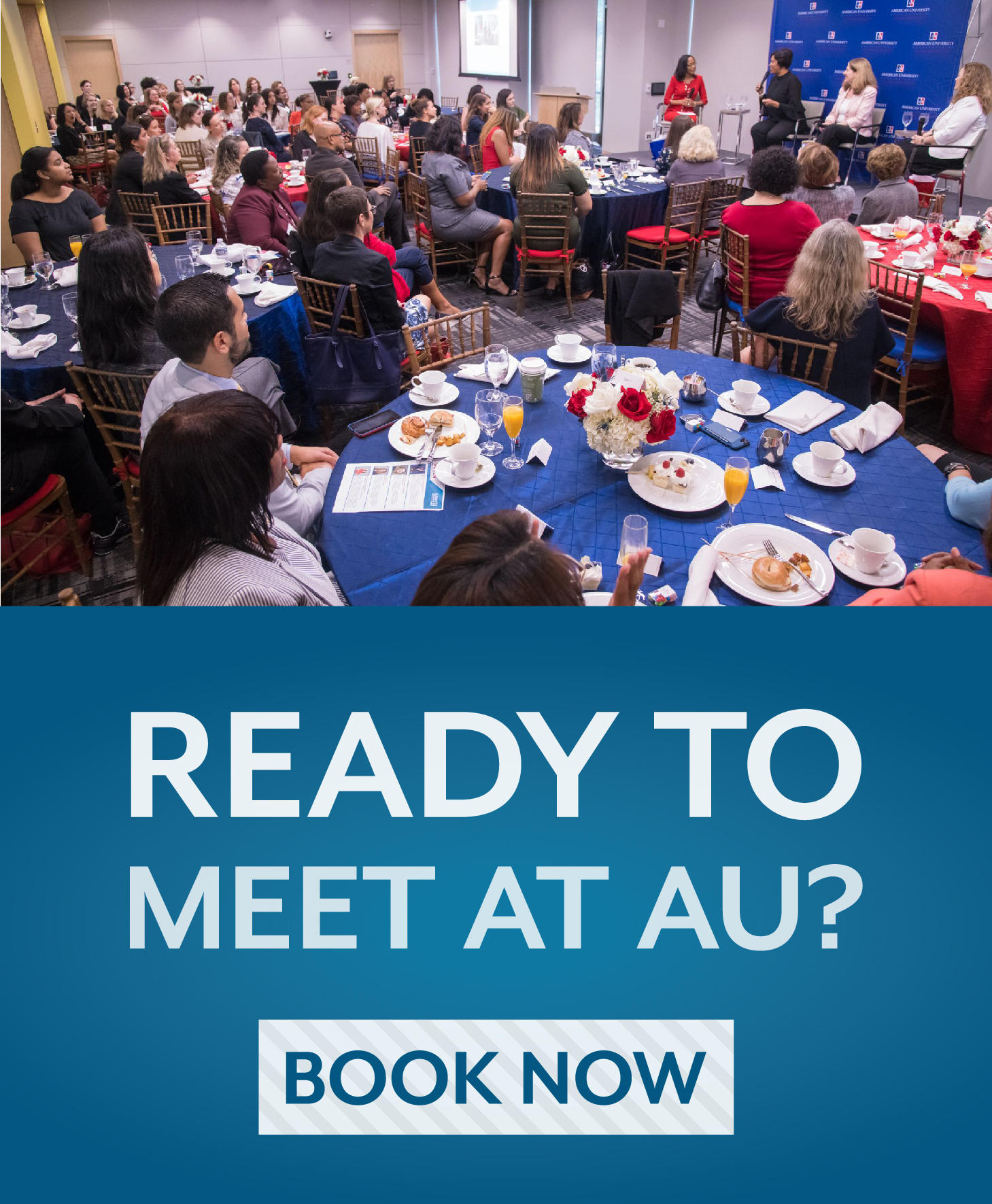 Ready to meet at AU? Book Now