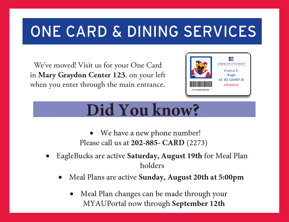 One Card & Dining Services. Short Description