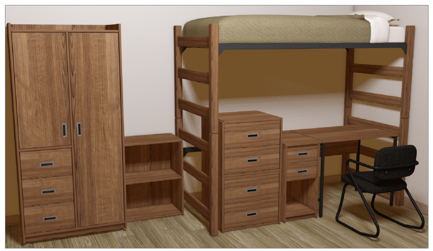 Furniture Configuration For Lofted Bed Example