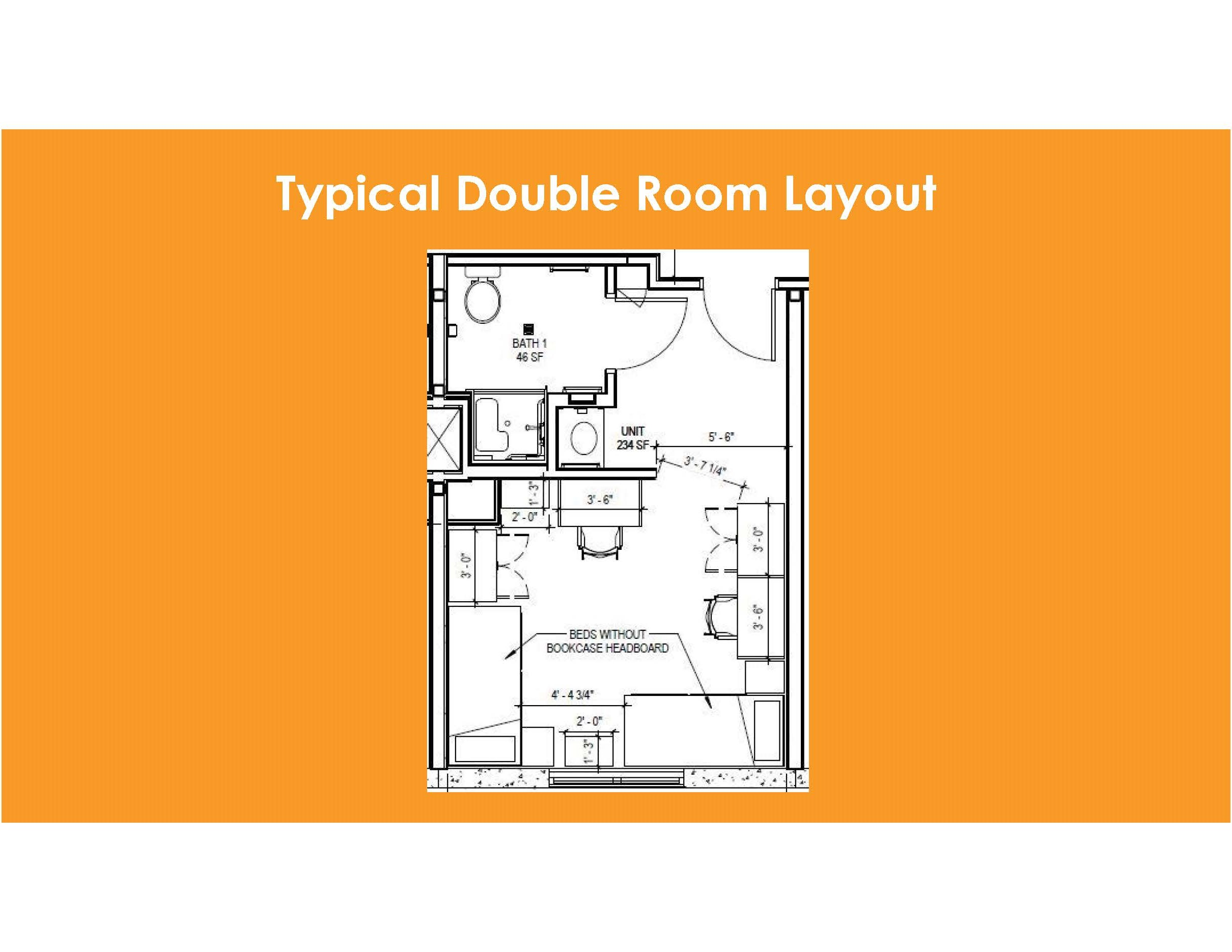 Room Diagram | Room Specifications Housing Residence Life American University