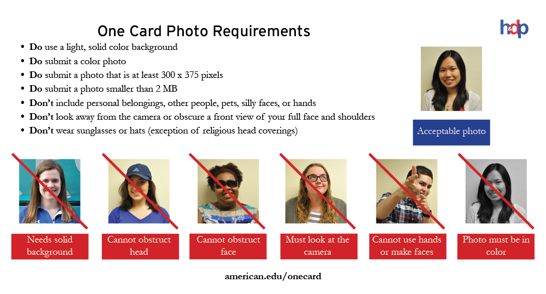 One Card photo requirements