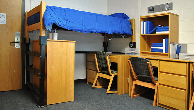 Lofted beds make use of space by creating more room for your belongings