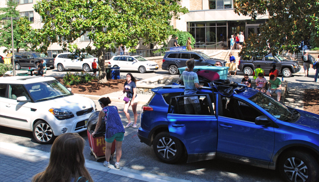 Residence halls open for move-in for new and returning students