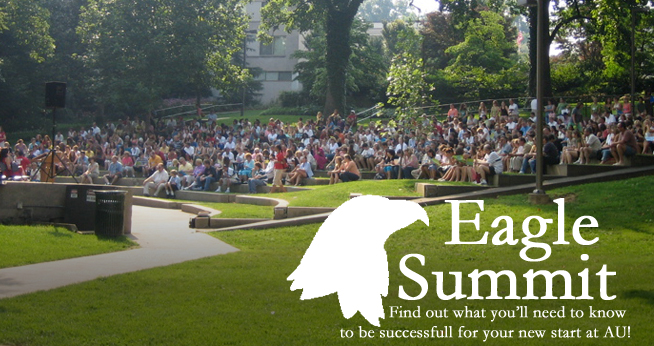 Eagle Summit opening welcome in Woods-Brown Amphitheater