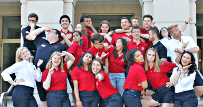 Orientation Leaders making funny faces