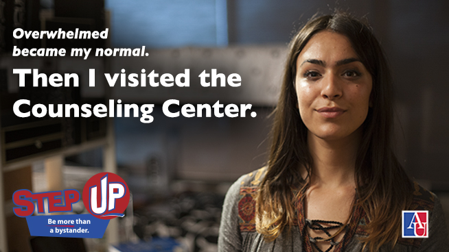 Overwhelmed became my normal. Then I visited the Counseling Center. Step Up