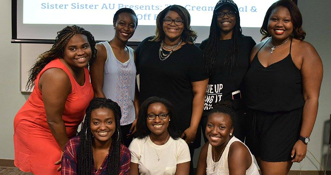 Sister Sister group of female African American students