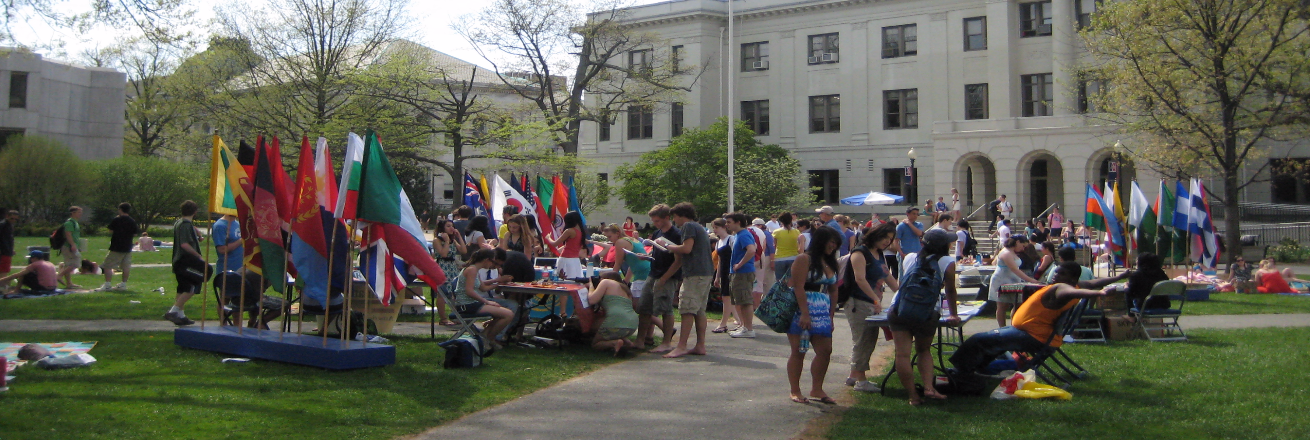 International student celebration on the AU quad
