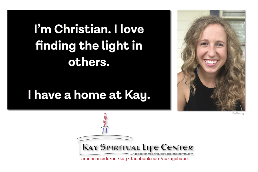 I'm Christian. I love finding the light in others. I have a home at Kay.