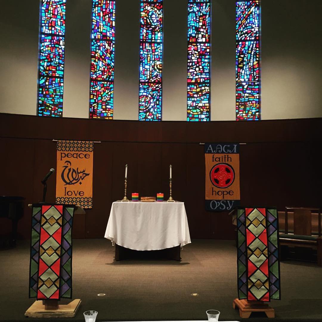 Chapel set up for interfaith chapel services