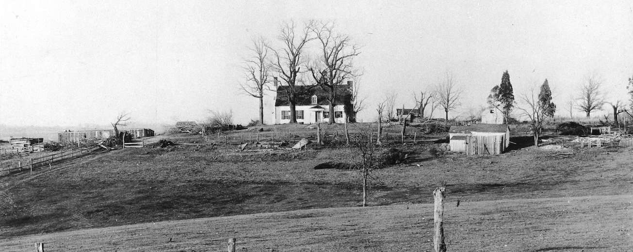 Image of original farmhouse on AU land