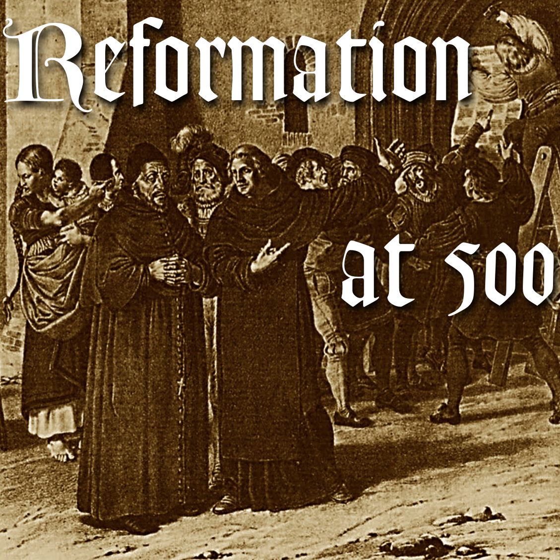 Martin Luther Nails the 95 Theses to the Cathedral Door