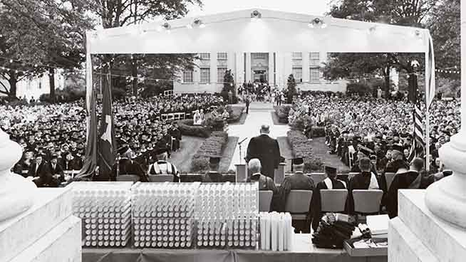 Five Historical Tidbits About AU Commencement