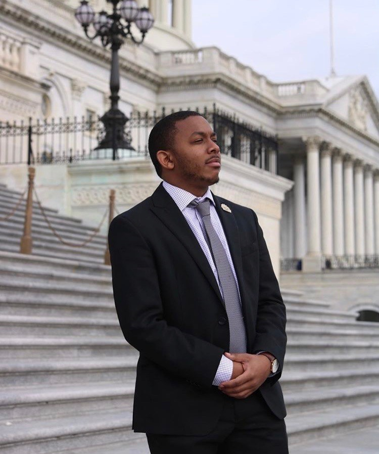 Lawrence Holman on the steps of the US Capitol